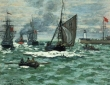 Monet, Entrance to the Port of LeHavre,1868