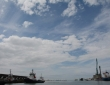 White Clouds Over LeHavre Port