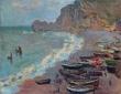 Monet, Beach at Étretat, 1885
