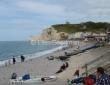 The Beach At Etretat