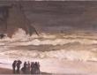 Monet, Stormy Sea At Etretat, c.1868
