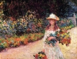 Monet, Young Girl in the Garden At Giverny,1888