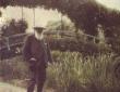 Monet at Japanese Bridge, Giverny, undated