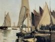 Monet, Boats at Honfleur, 1866